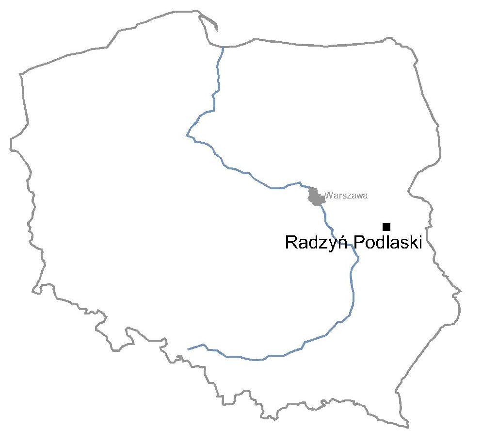 Pałac w Radzyniu Podlaskim - remont zabytku - mapa