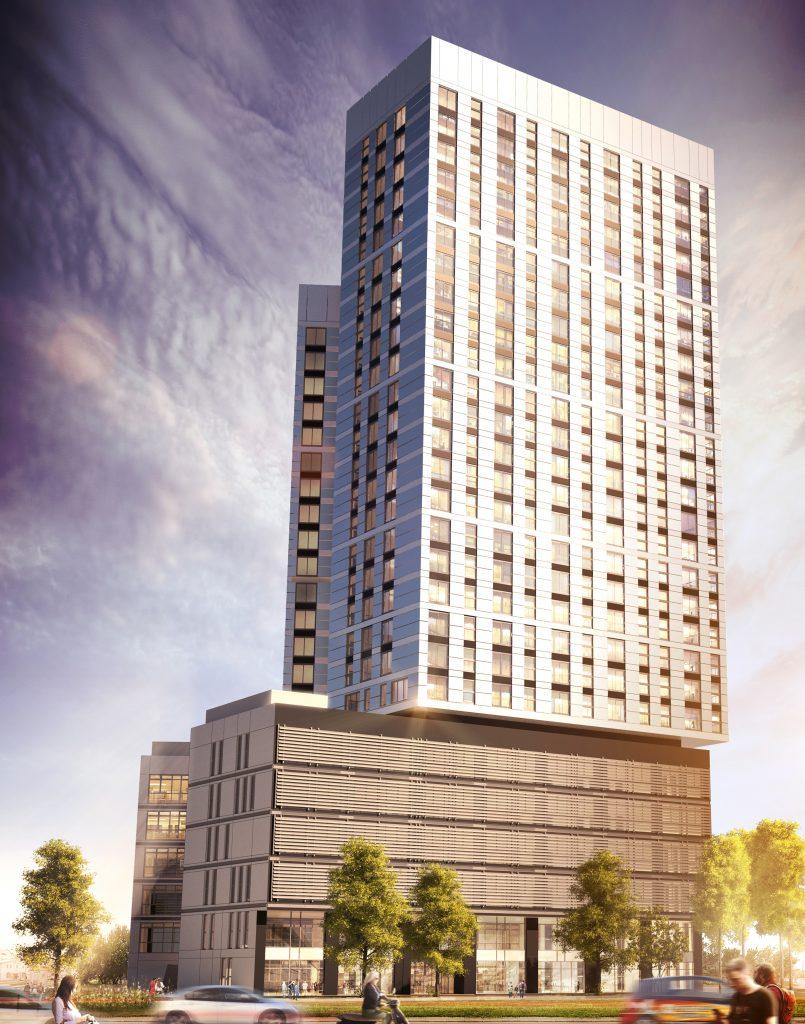 wizualizacja projektu budynku mieszkalno-biurowego